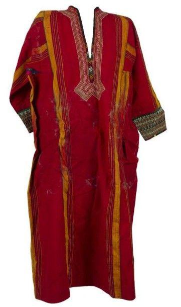 Manteau, tunique et deux bordures de tente, Asie centrale, Maroc, XXe siècle. Manteau...