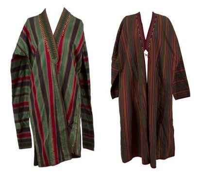 Quatre manteaux jelak, Asie centrale, début...