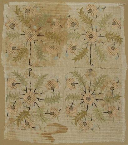 Huit extrémités de serviettes ottomanes brodées, Turquie, XIXe siècle Coton et lin...