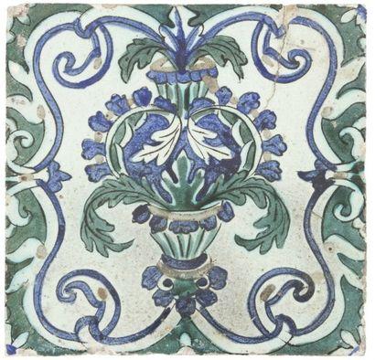 Vase de R. LACHENAL (1885 -1956) et carreau dans le style Iznik, XIXe siècle Vase...