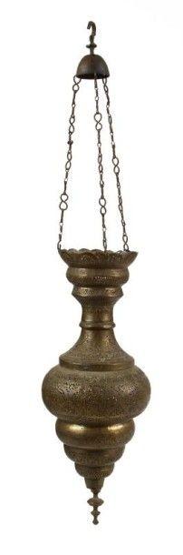 Lampe de mosquée, Proche-Orient, fin XIXe...