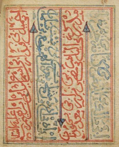 Petit livre de prière, Dala'il al-Khayrat, Afrique du Nord, XIXe siècle. Manuscrit...