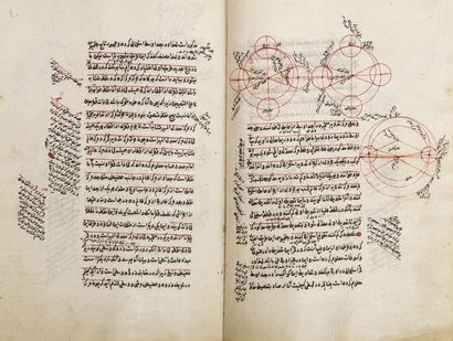 Manuscrit astronomique, «Charh Muslih al-Din al-Lari bar Risala dar Ilm al-Hay'a....