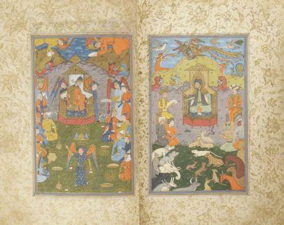 Ensemble poétique comprenant Les Cinq Trésors de Khosrow / Pandj Ganj Khosrawieh,...