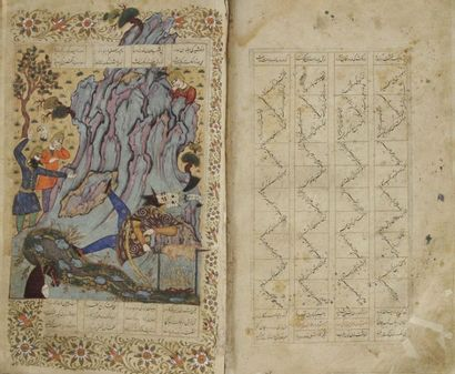Manuscrit, Shâhnâmeh ou Livre des rois, par...