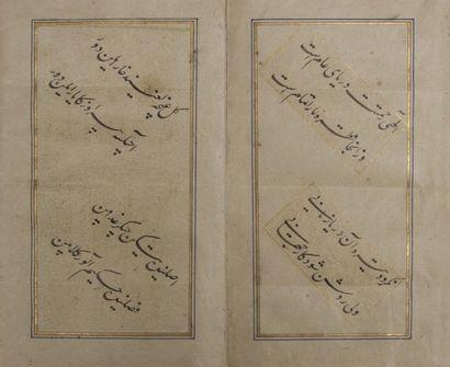 Album, muraqq'a, de six calligraphies, Iran,...