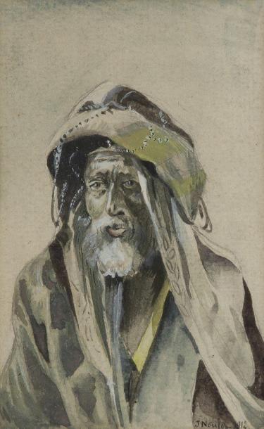 J. NOULEZ (XIXe-XXe siècle) Oriental, 1912 Aquarelle. Signée et datée en bas à droite....