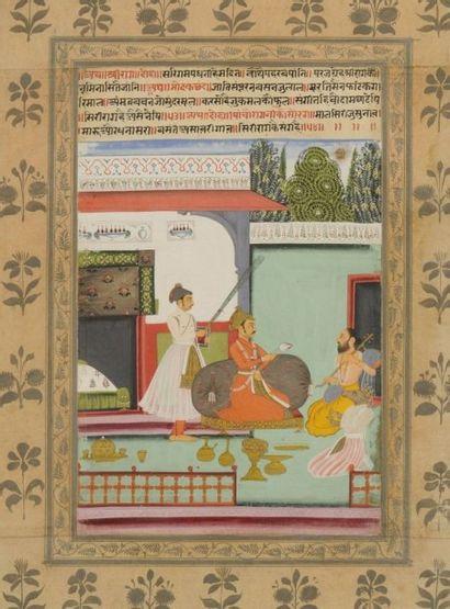 Shri Raga Sur la terrasse d'un pavillon,...