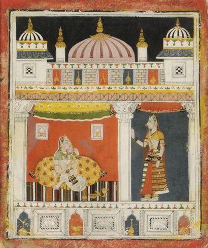 Illustration d'un Rasikapriya, Rajasthan,...