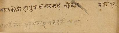 Bhramananda, Putra de Malkhos, Illustration d'un Ragamala, Haut Pendjab, Bilaspur,...