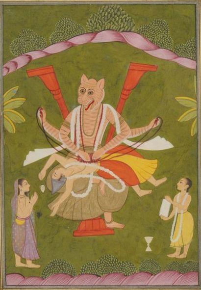 Narasimba, 4e avatar de Vishnou, Inde du...