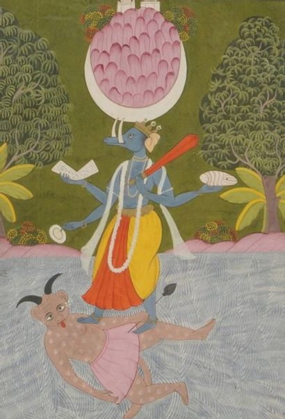 Varâha, 3e avatar de Vishnou, Inde du nord,...