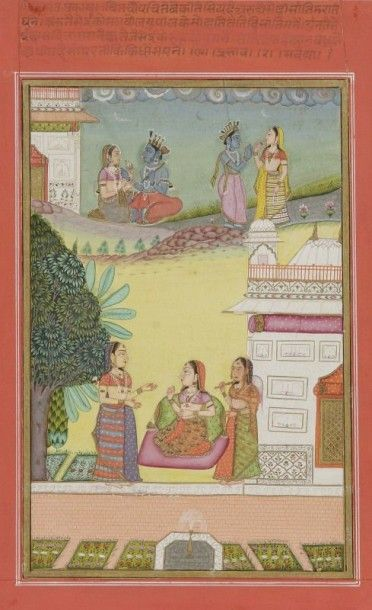 Todi Ragini et illustration du Rasikapriya,...