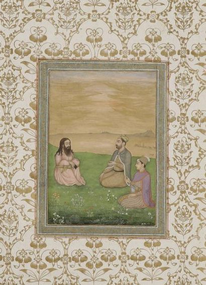 Page provenant de l'album dit Ardeshir, Inde...