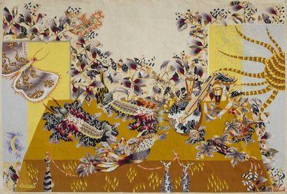 Jean LURÇAT (1892-1966) Cartonnier & Atelier TABARD Lissier à Aubusson