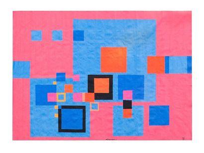 Claude LOEWER (1917-2006) Cartonnier <BR>& Atelier PICAUD Lissier à Aubusson