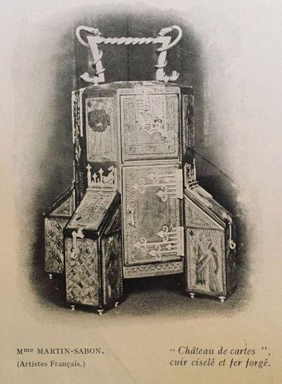 Nathalie MARTIN-SABON (1855-1931) née Nathalie SCHÖNE Château de cartes, ?uvre unique,...