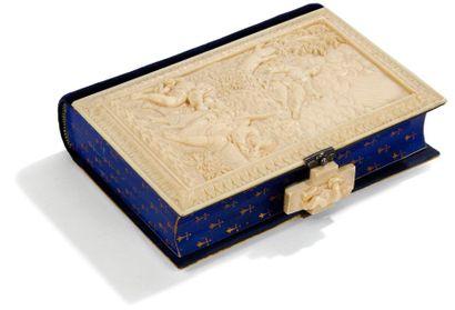 Missel avec reliure en ivoire finement sculpté,...