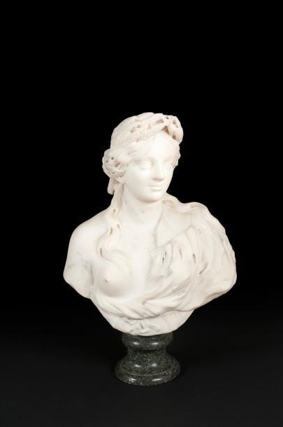 Buste en marbre blanc représentant Cérès;...