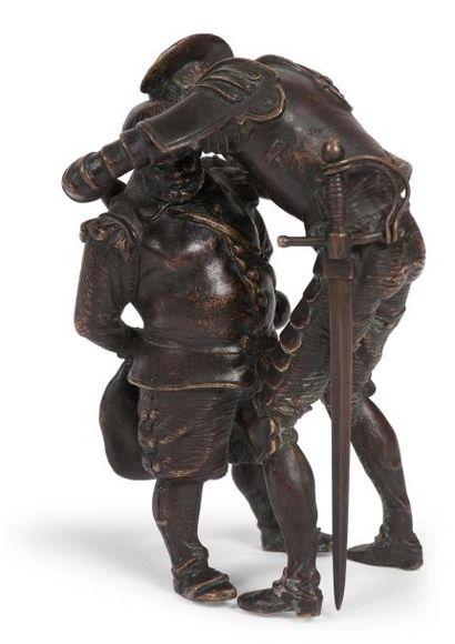 Groupe représentant Don Quichotte et Sancho...
