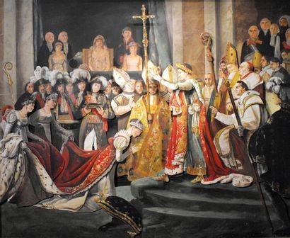 Le Sacre de Napoléon d'après Jacques-Louis...