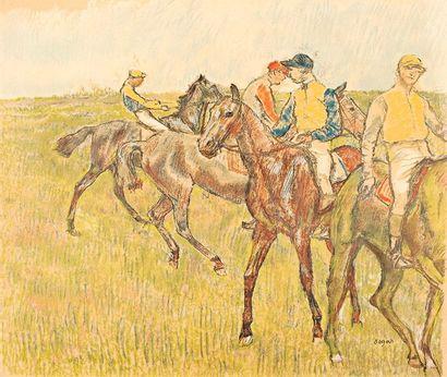 Edgar Degas (1834-1917)(d'après)