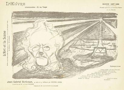 Edvard Munch (1863-1944) Jean Gabriel Borkman. Programme pour le théâtre de l'oeuvre....