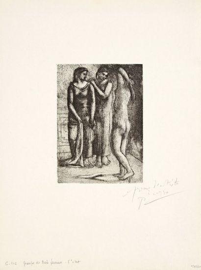 Pablo Picasso (1881-1973) Groupe de trois femmes. 1922-1923. Eau-forte, pointe sèche...