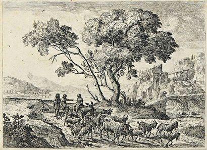 Claude Gellée, dit Le Lorrain (1600-1682) Le Départ pour les champs. Vers 1638-1641....
