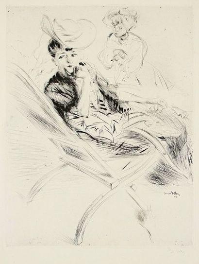 Jacques Villon (Gaston Duchamp, dit) (1875-1963) Gaby chaise longue, ou Le Transatlantique....
