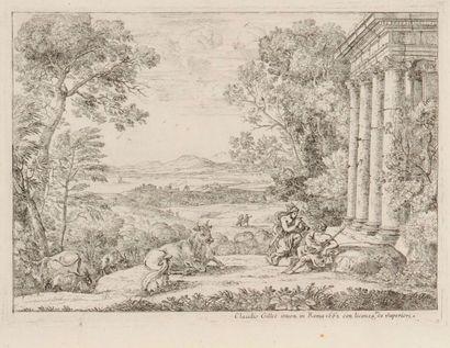 Claude Gellée, dit Le Lorrain (1600-1682) Mercure et Argus. 1662. Eau-forte. 224...