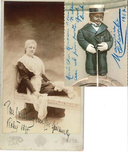 DIVERS. 7 Lettres ou pièces, dont5 autographes signées (on joint une photo endommagée de Marie Bashk