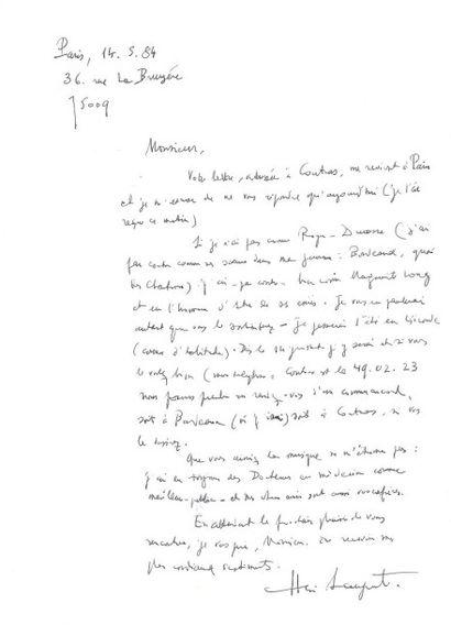 DIVERS. 10 Lettres ou pièces, la plupart L.A.S. d'artistes