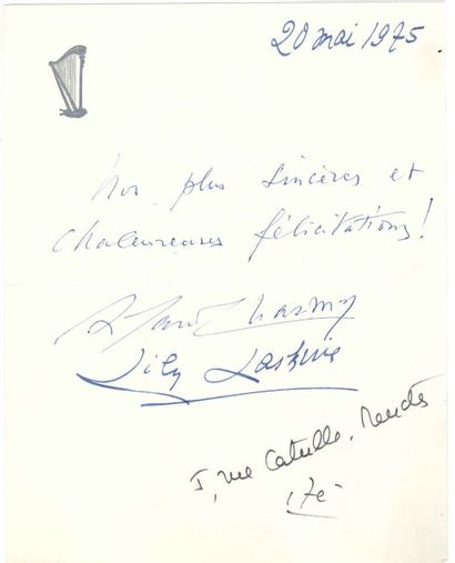 [Bernard GAVOTY (1908-1981) organiste et critique musical]