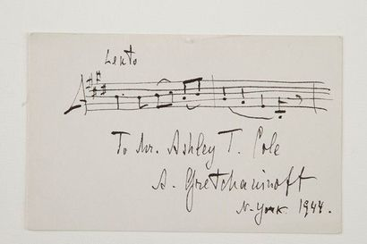 Alexandre GRETCHANINOFF (1864-1956) compositeur russe