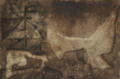 Jacques DUTHOO (1910-1960) Composition abstraite, 1957 Huile sur toile. Signée et...