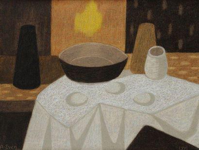 André EVEN (1918-1996) Nature morte Huile sur toile. Signée en bas à gauche. 46x61...