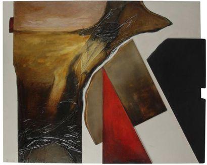 Josep Maria AVILES (né en 1942) Le Vol de libellule, 2005 Technique mixte et collage...