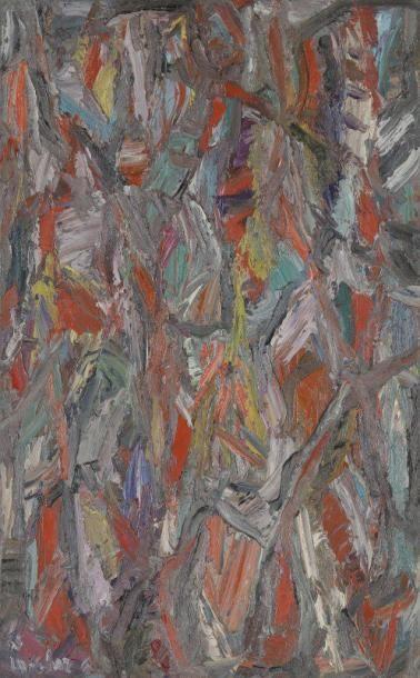 David LAN-BAR [polonais] (1912-1987) Composition, 1965 Huile sur toile. Signée et...