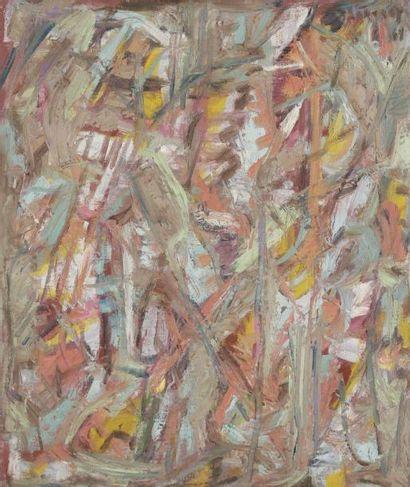 David LAN-BAR [polonais] (1912-1987) Composition, 1969 Huile sur toile. Signée et...
