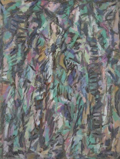David LAN-BAR [polonais] (1912-1987) Composition, 1978 Huile sur toile. Signée et...