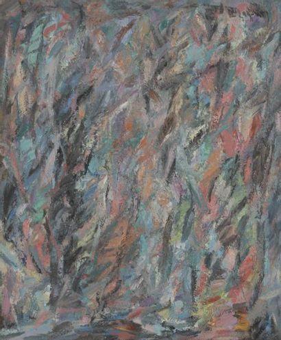 David LAN-BAR [polonais] (1912-1987) Composition, 1979 Huile sur toile. Signée et...