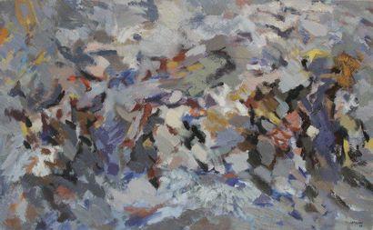 Robert LAPOUJADE (1921-1993) Violence, 1960 Huile sur toile. Signée et datée en bas...
