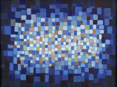 Louis LECLERC (né en 1920) Composition Huile sur toile. Signée en bas à droite. 60x80...