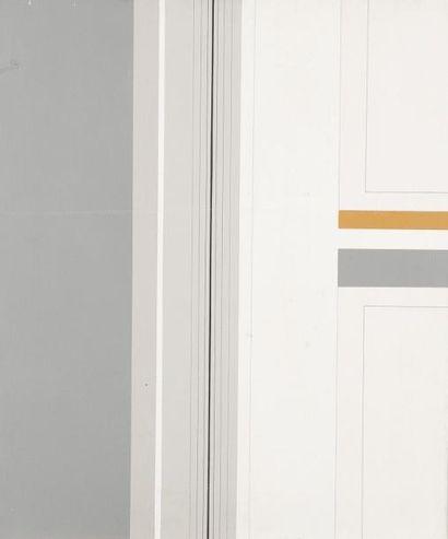 Pierre LEGENDRE (1932-2005) Composition géométrique Acrylique sur toile. Signée au...