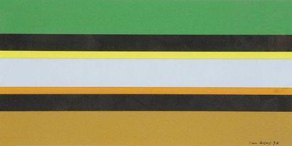 Jean LEGROS (1917-1981) Composition, 1976 Acrylique et collage. Signée et datée en...