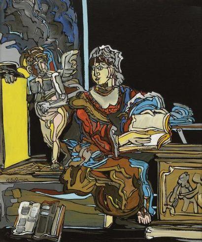 Gérard SALOMON (XXe siècle) D'après..., 1991