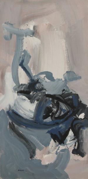 Bernard BYGODT (1939-2004) Composition, 1968 Huile sur toile. Signée en bas à gauche....