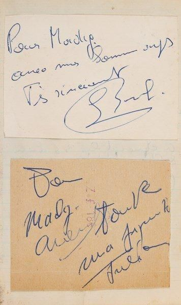 Spectacle. Carnet d'autographes (in-12, rel....