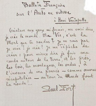 Automobile. 10 L.A.S. ou manuscrits autographes...